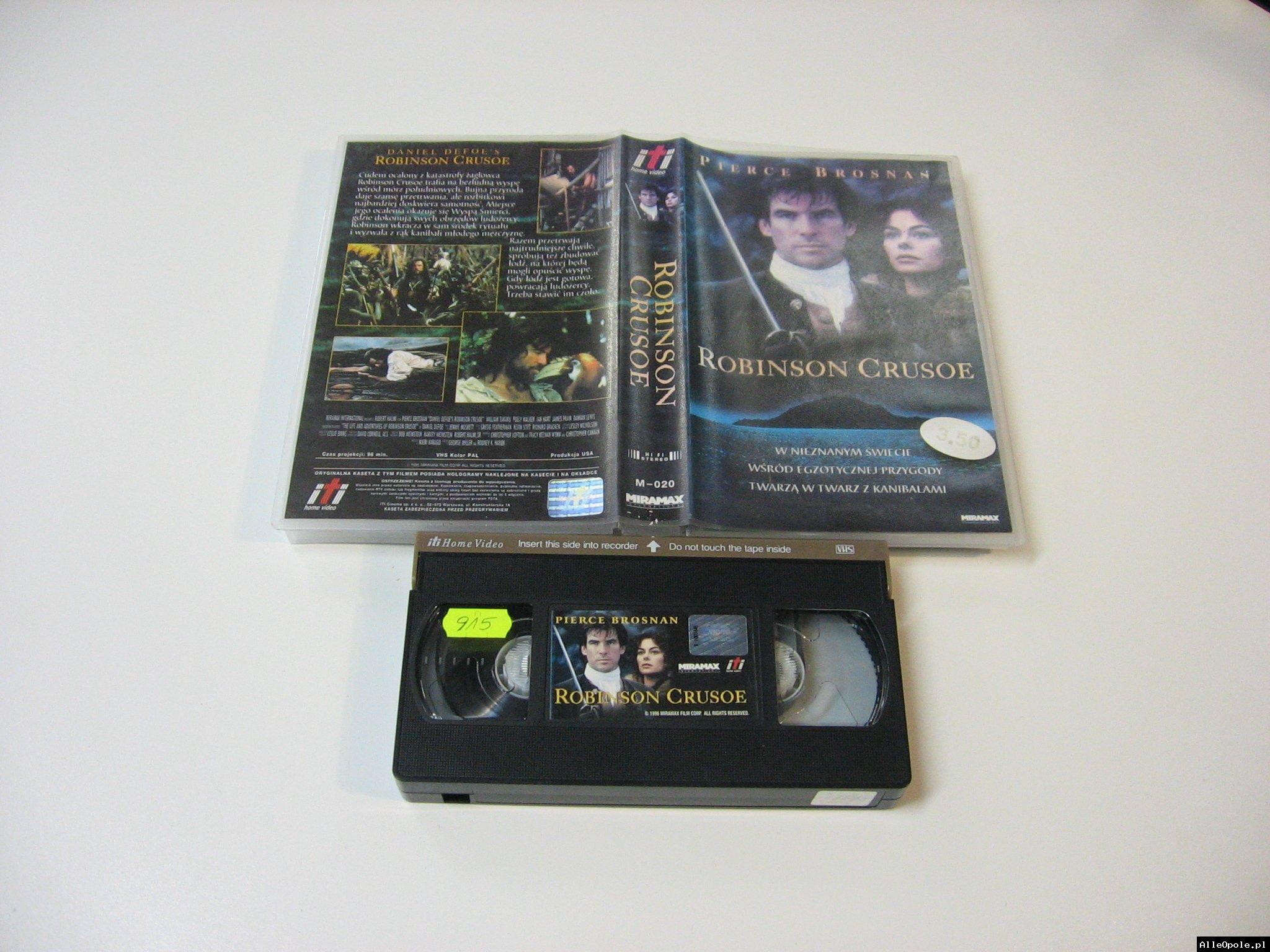 ROBINSON CRUSOE - VHS Kaseta Video - Opole 1761