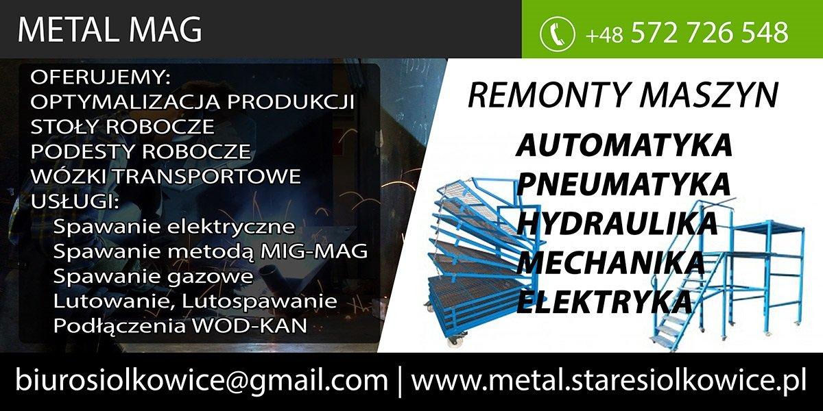Remonty maszyn,pneumatyka,automatyka,mechanika,elektryka,hydraulika