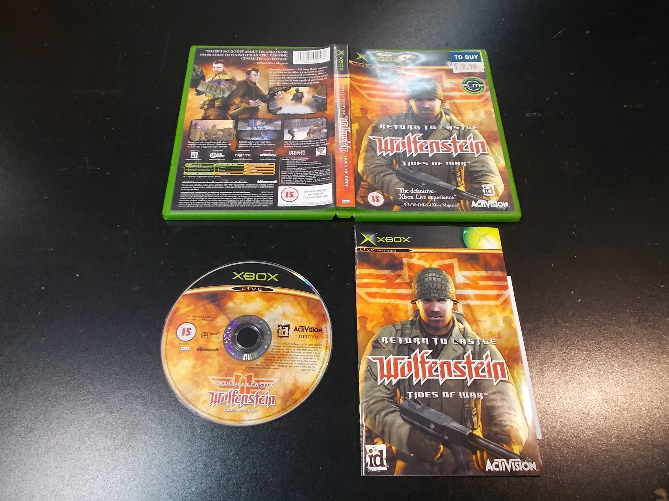 Return To Castle Wolfenstein Tides Of War - GRA Xbox Classic