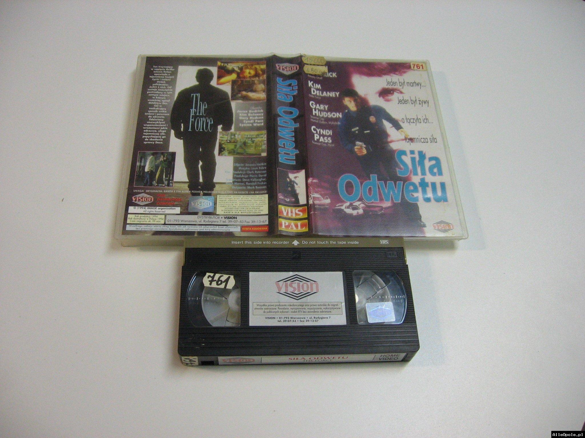 SIŁA ODWETU - VHS Kaseta Video - Opole 1822