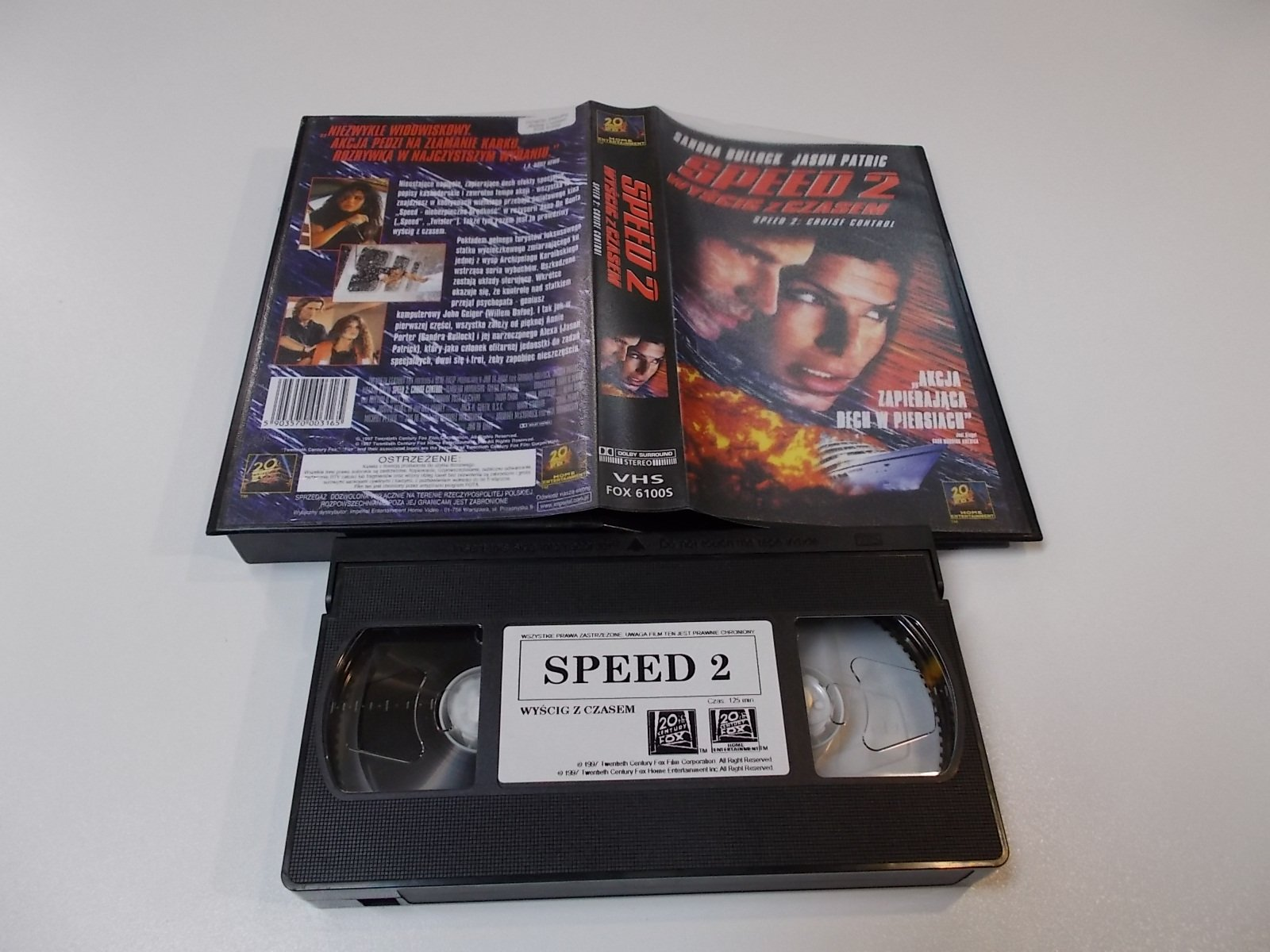 SPEED 2 WYŚCIG Z CZASEM - VHS Kaseta Video - Opole 1684
