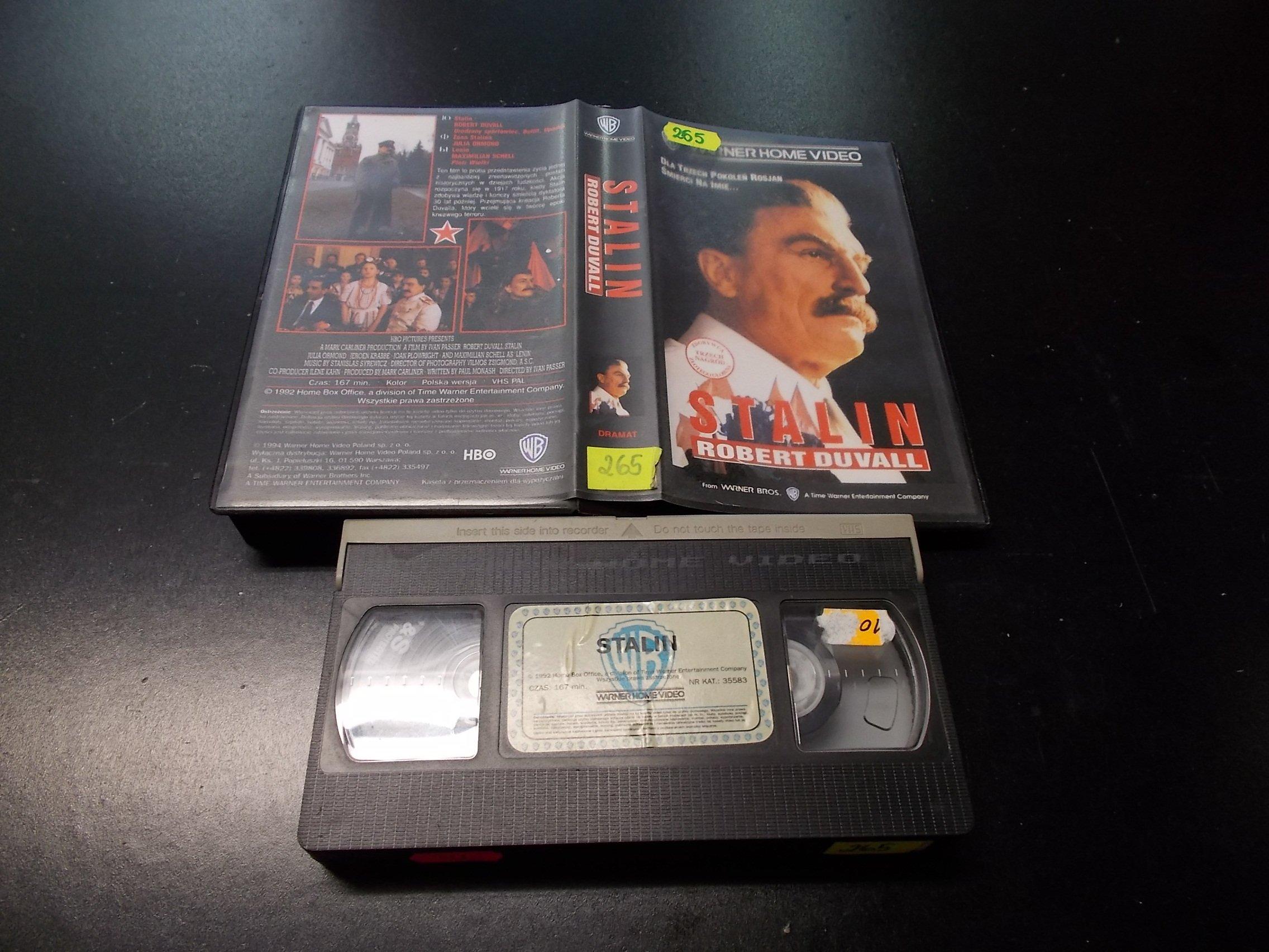 STALIN - ROBERT DUVALL -  kaseta VHS - 1283 Opole - AlleOpole.pl