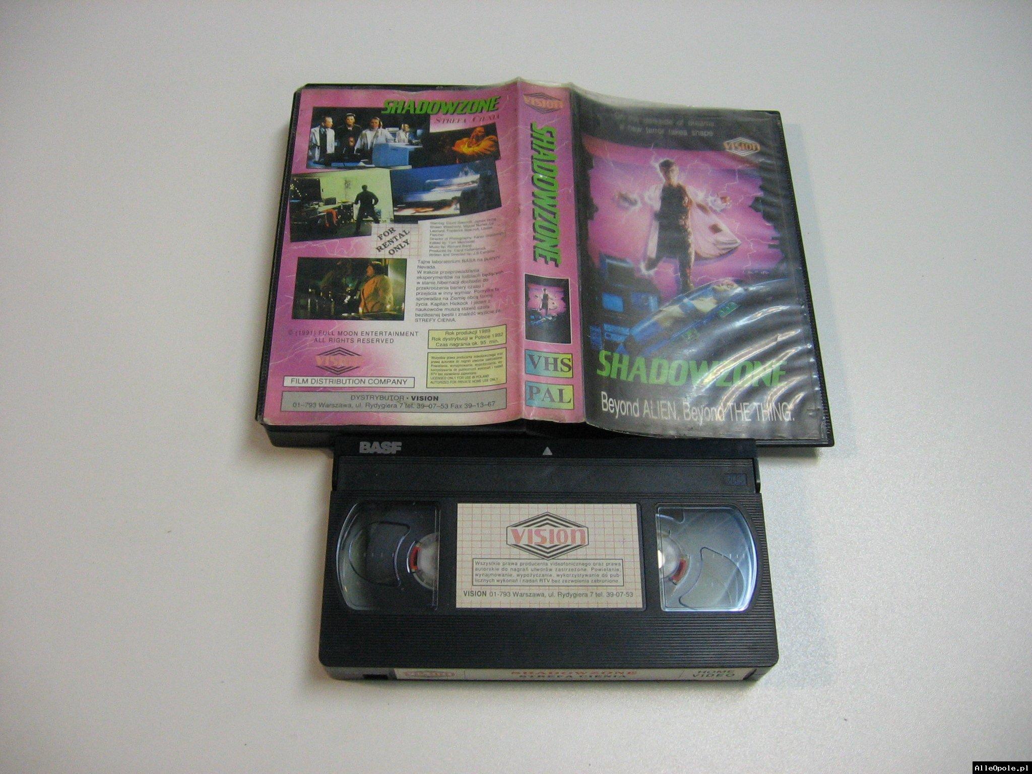 STREFA CIENIA - SHADOWZONE - VHS Kaseta Video - Opole 1838
