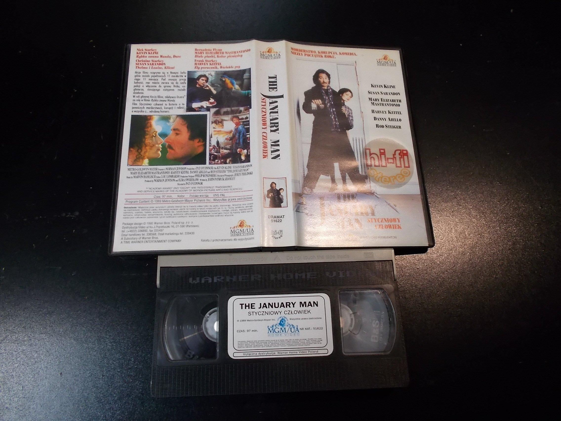 STYCZNIOWY CZŁOWIEK - kaseta Video VHS - 1368 Sklep