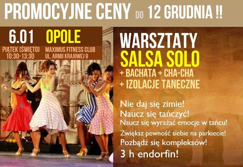 Salsa w Opolu: Bezpłatna Lekcja + Warsztaty: 6 stycznia