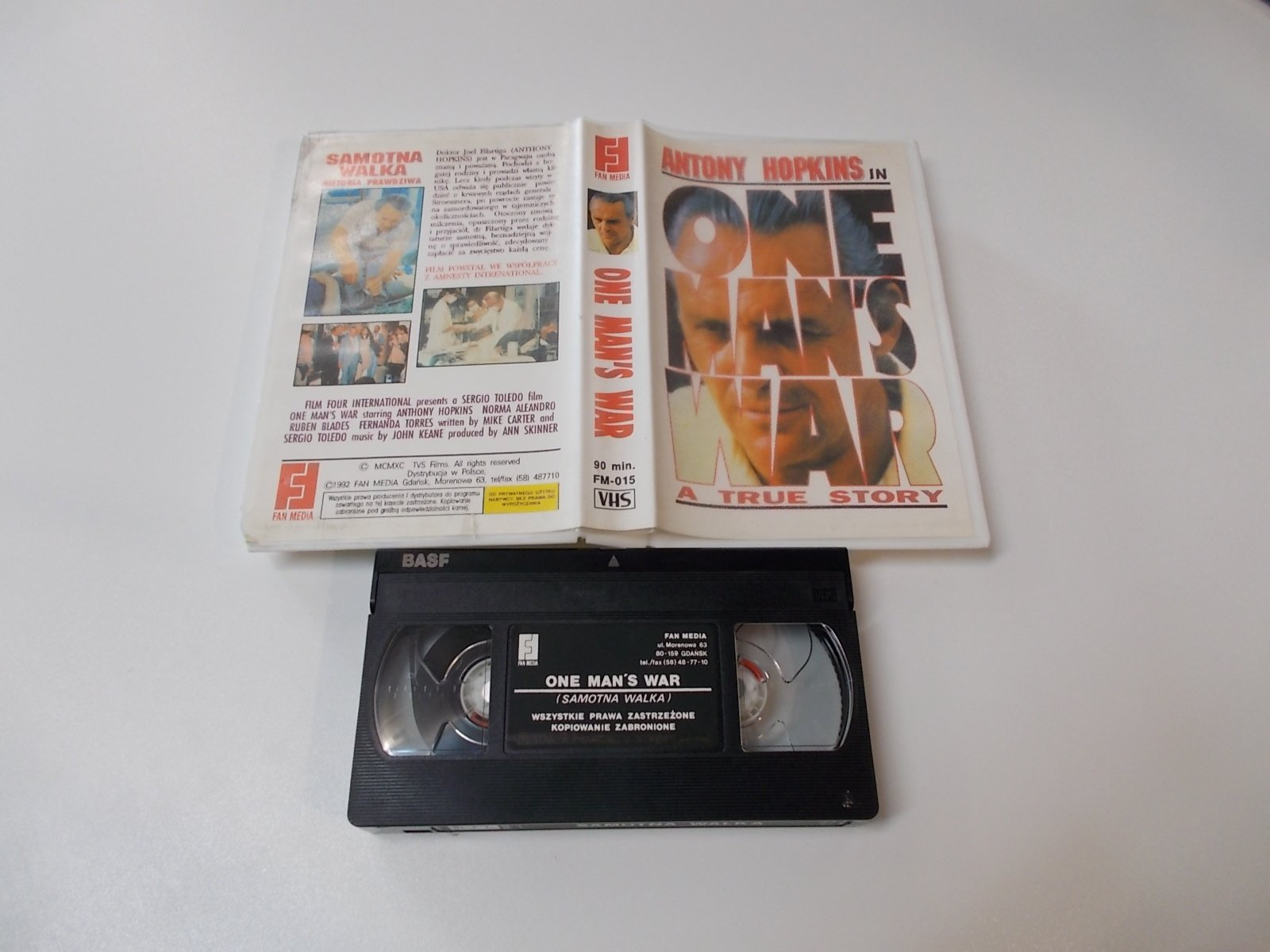 Samotna Walka - One Man's War - ANTONY HOPKINS- VHS Kaseta Video - Opole 1661