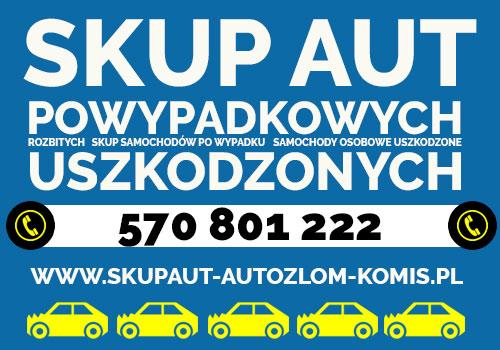 Skup aut Powypadkowych Chorzów, aut Uszkodzonych Jaworzno, aut rozbitych Jastrzębie-Zdrój
