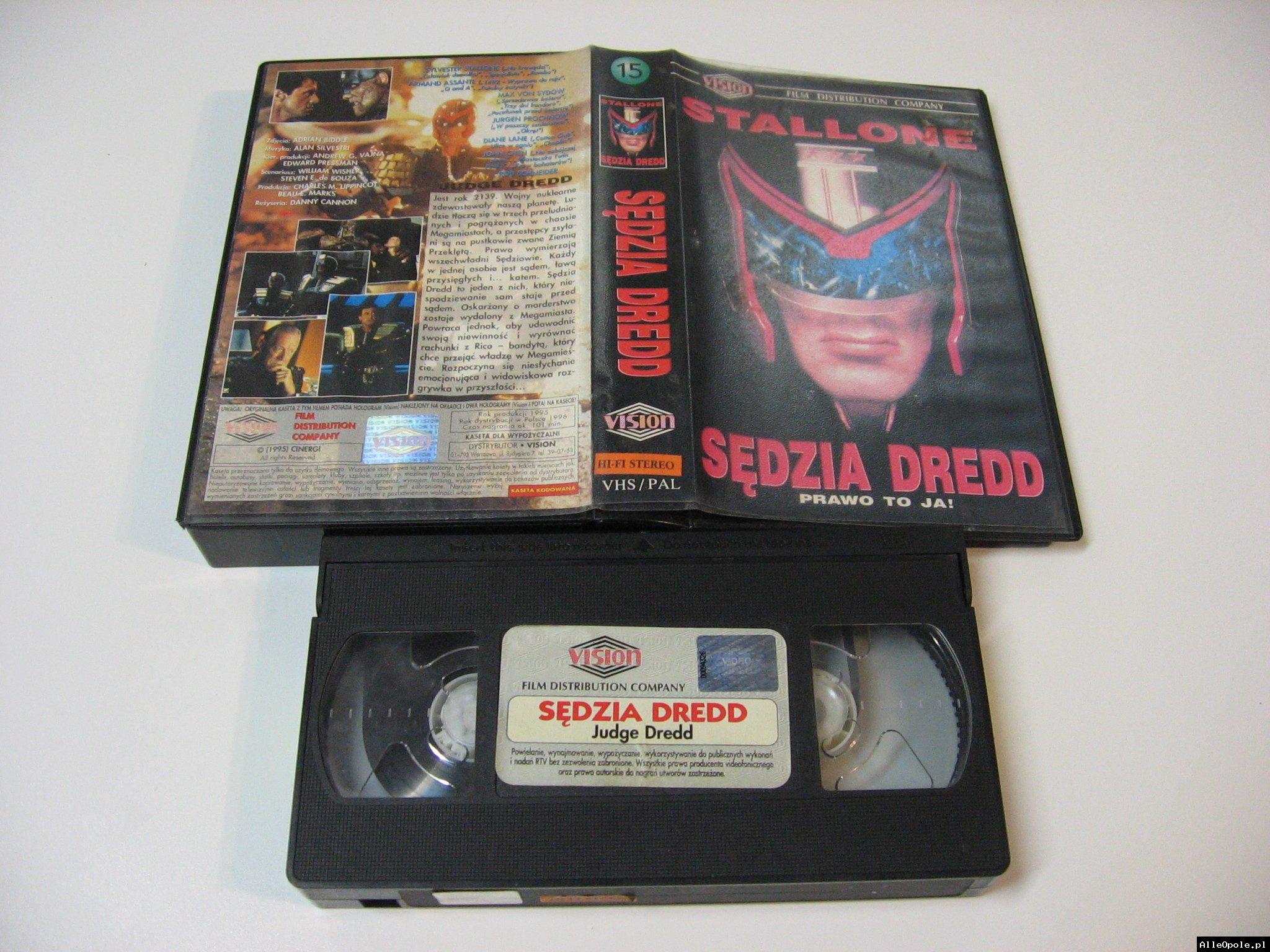 SĘDZIA DREDD - VHS Kaseta Video - Opole 1741