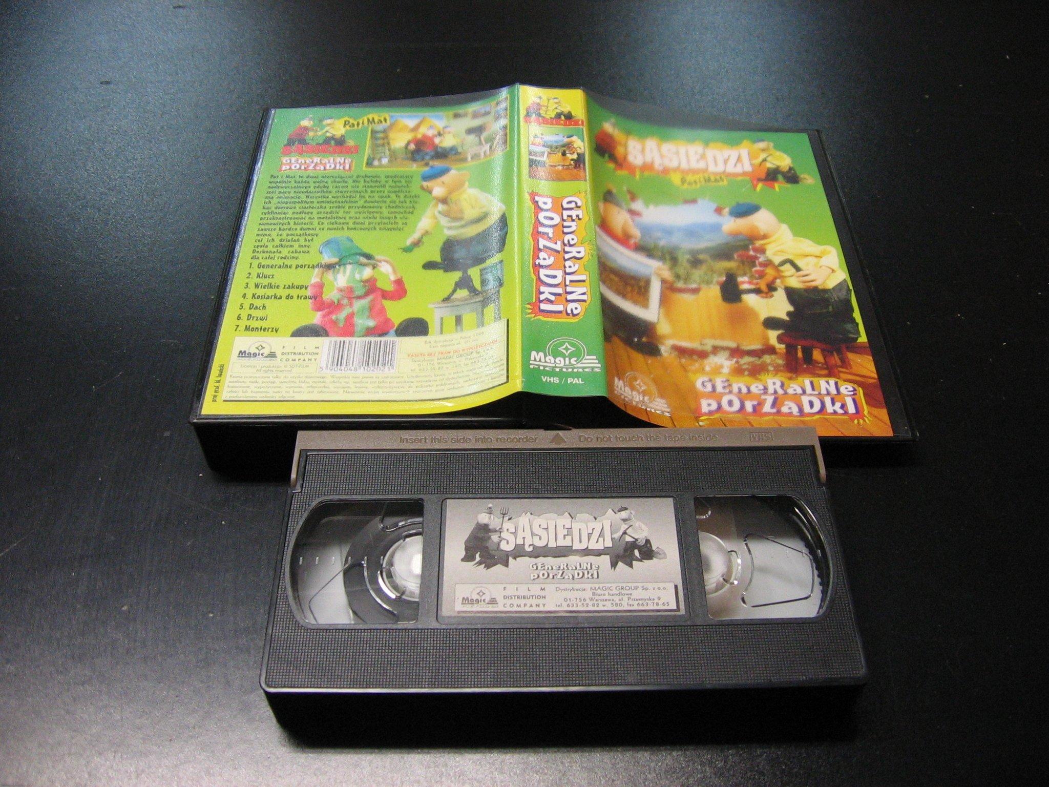 SĄSIEDZI PAT I MAT GENERALNE PORZĄDKI -  kaseta VHS - 1127 Opole - AlleOpole.pl