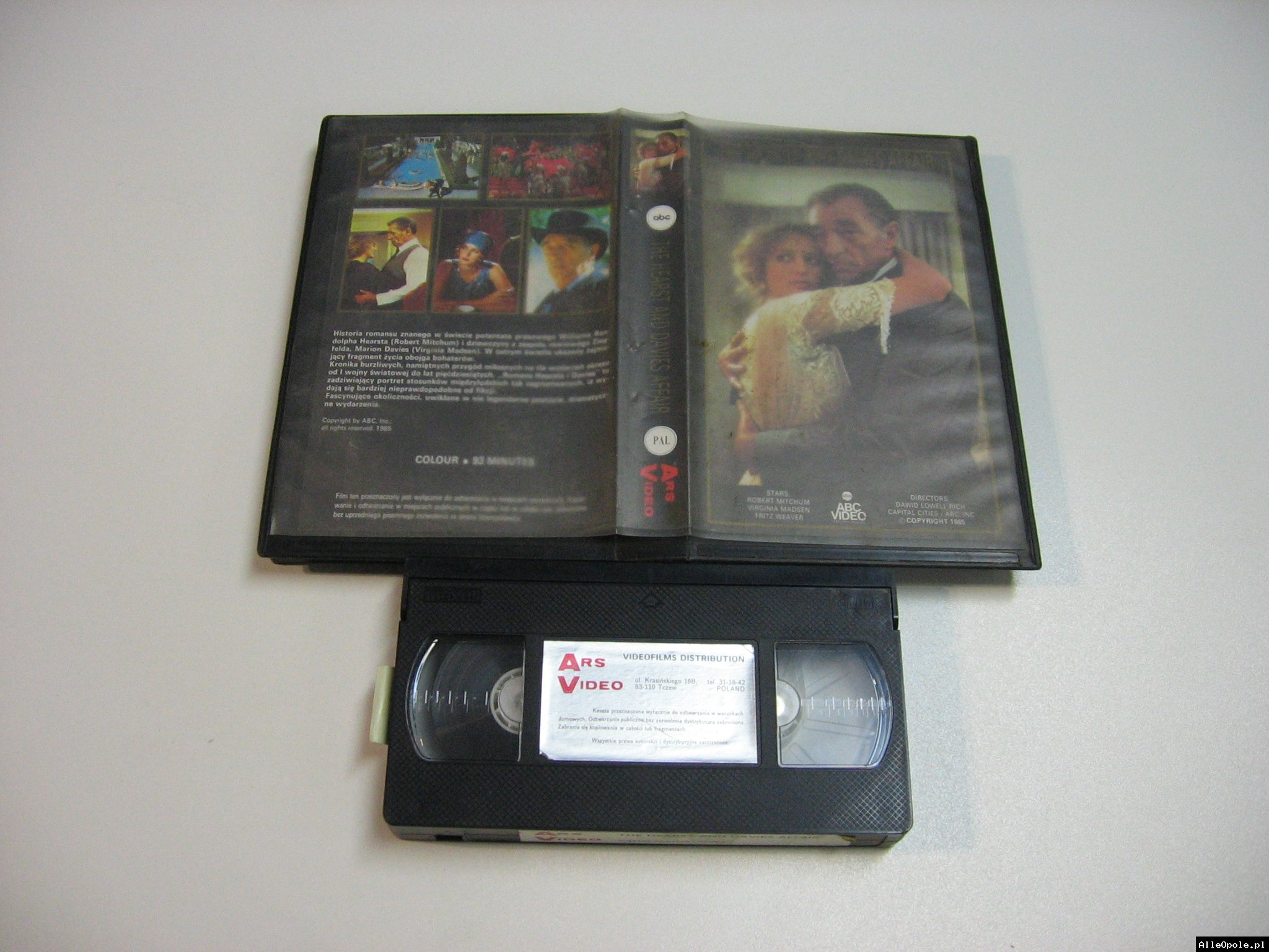 THE HEARST AND DAVIES AFFAIR - VHS Kaseta Video - Opole 1833