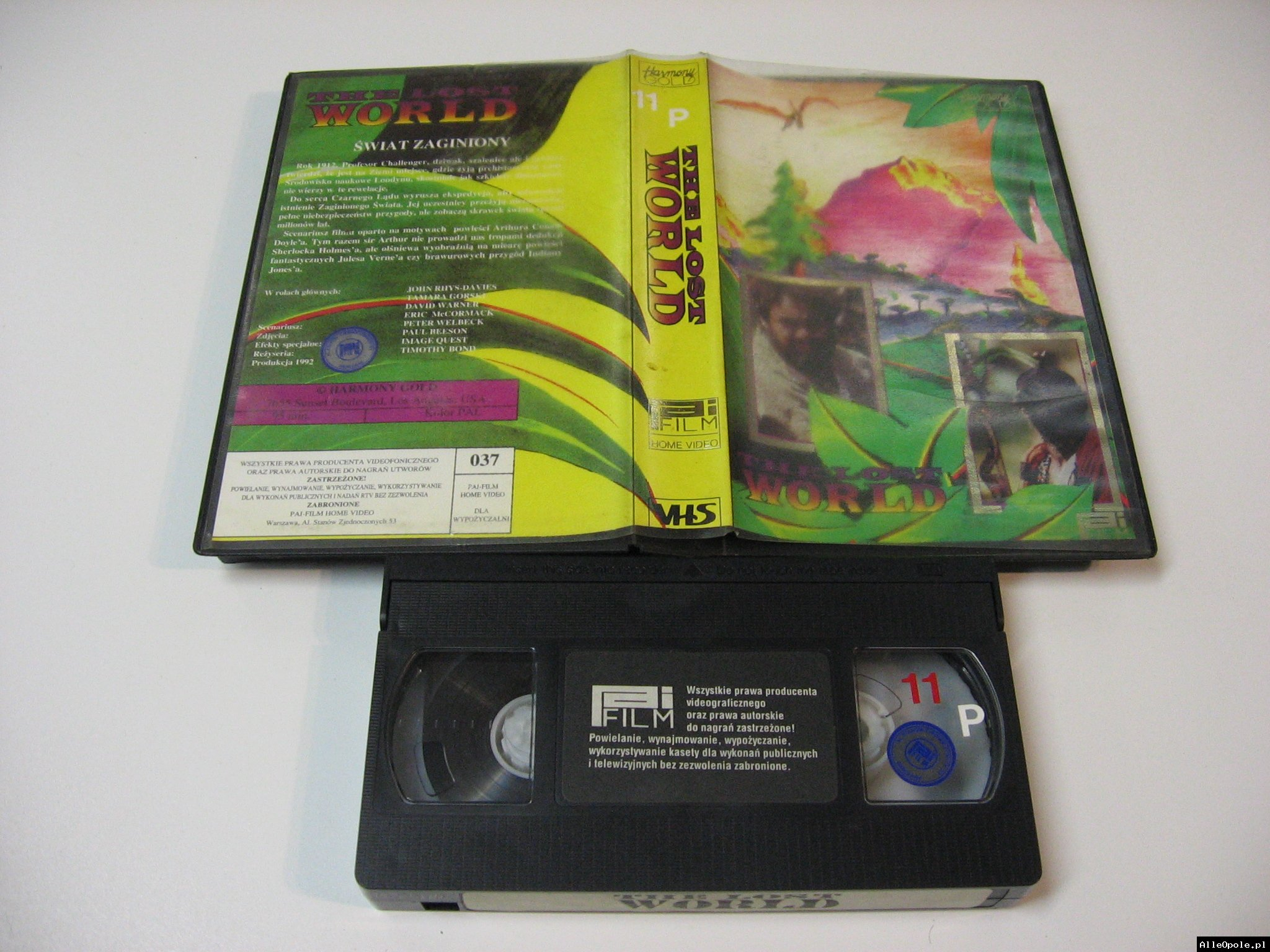 THE LOST WORLD - VHS Kaseta Video - Opole 1749