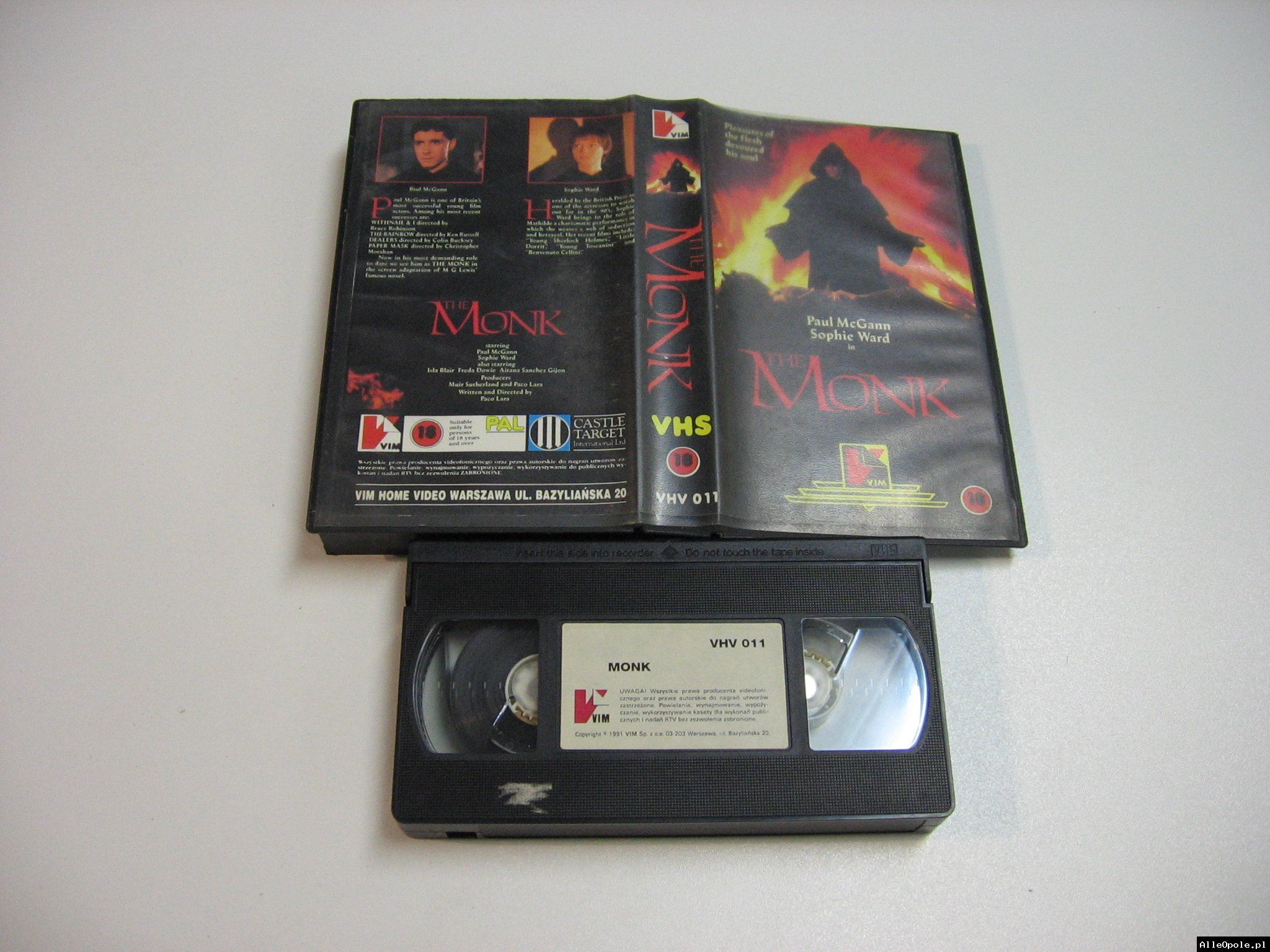 THE MONK - VHS Kaseta Video - Opole 1841