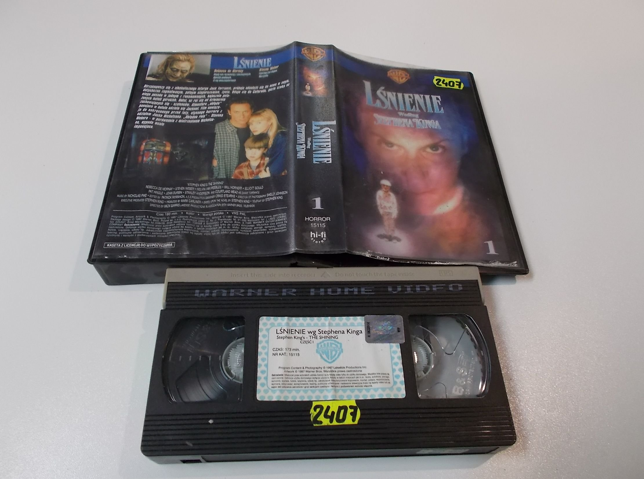 LŚNIENIE - Stephen King's  - Kaseta Video VHS - Opole 1587