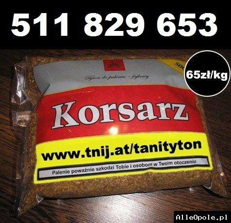 Tani tytoń 65zl/kg - 500g + darmowa dostawa do 5 kg! Tyton Korsarz, Marlboro, jasny i ciemny tyton.