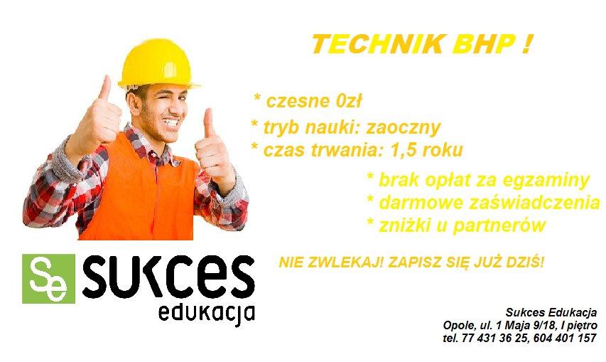 Technik BHP DARMOWY Kierunek Sukces Edukacja Opole