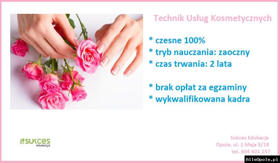 Technik Usług Kosmetycznych w Sukces Edukacja