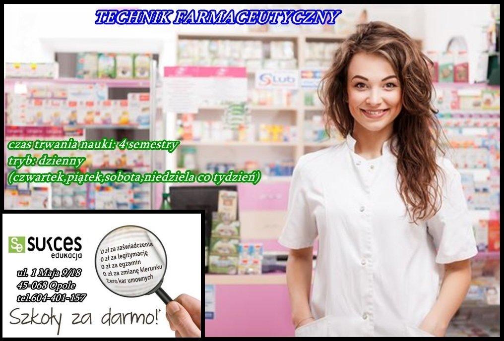 Technik farmaceutyczny DARMOWA NAUKA w Sukces Edukacja!