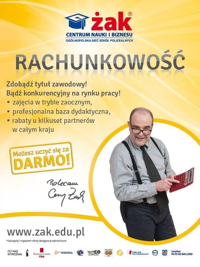 Technik rachunkowości - ZA DARMO tylko w Żaku!!!