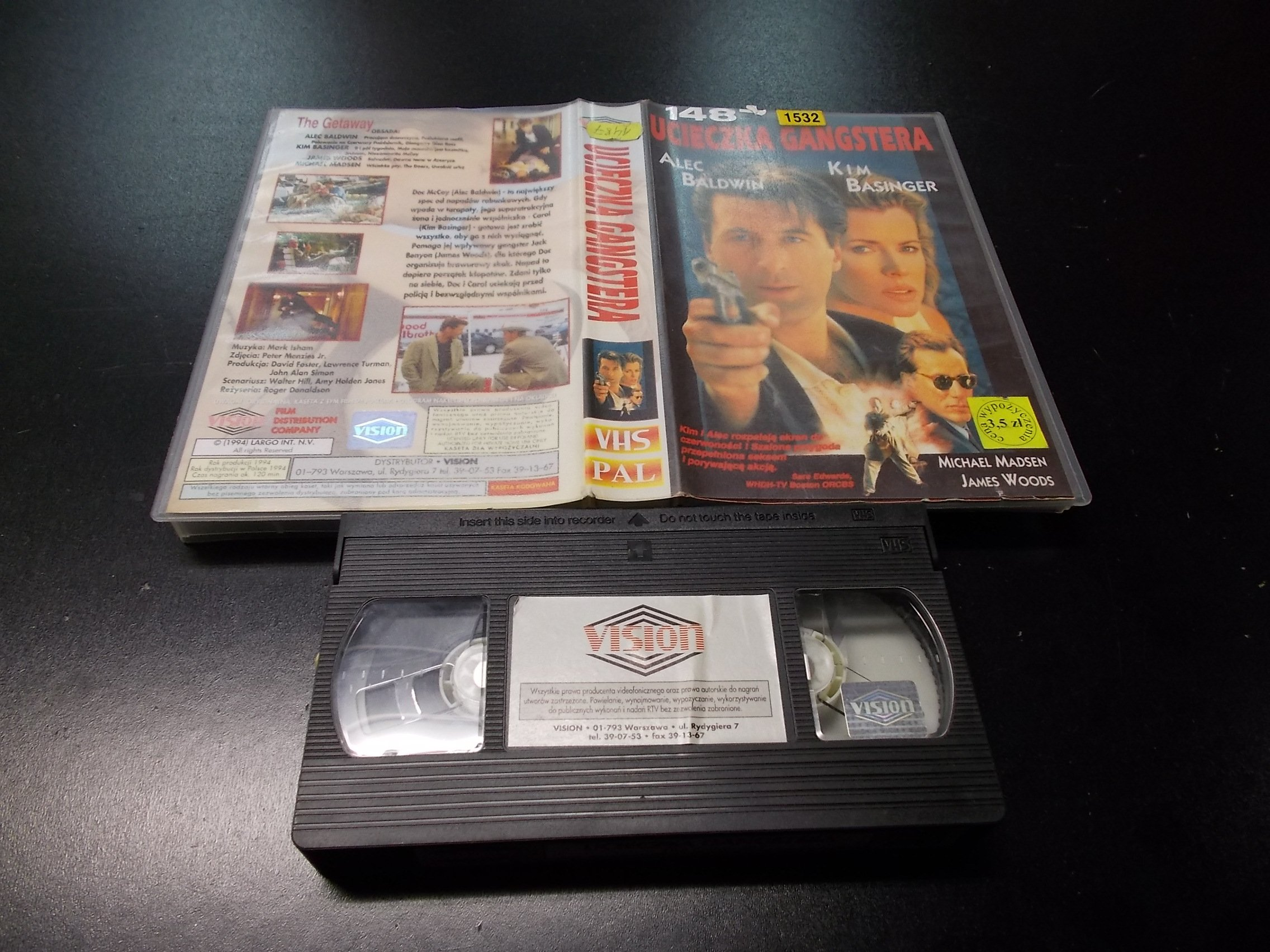 UCIECZKA GANGSTERA -  kaseta VHS - 1198 Opole - AlleOpole.pl