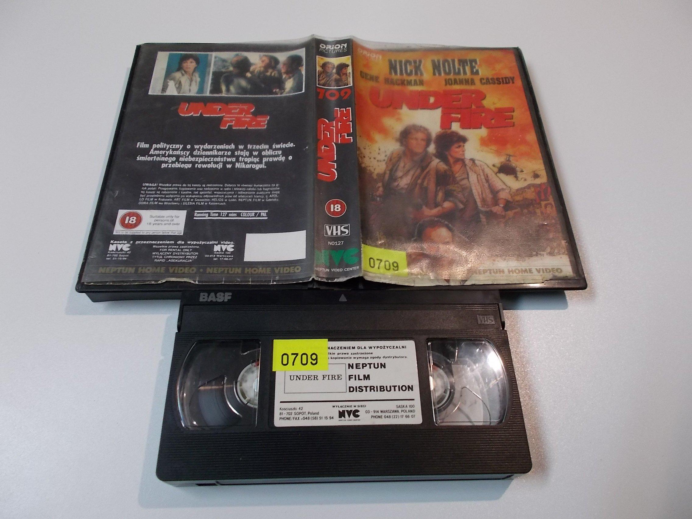 UNDER FIRE - NICK NOLTE - kaseta Video VHS - 1454 Sklep