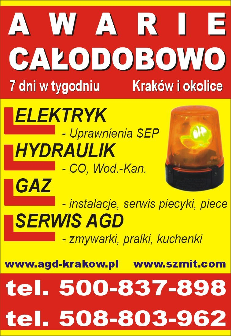 Usługi hydrauliczne Kraków tel. 508-803-962
