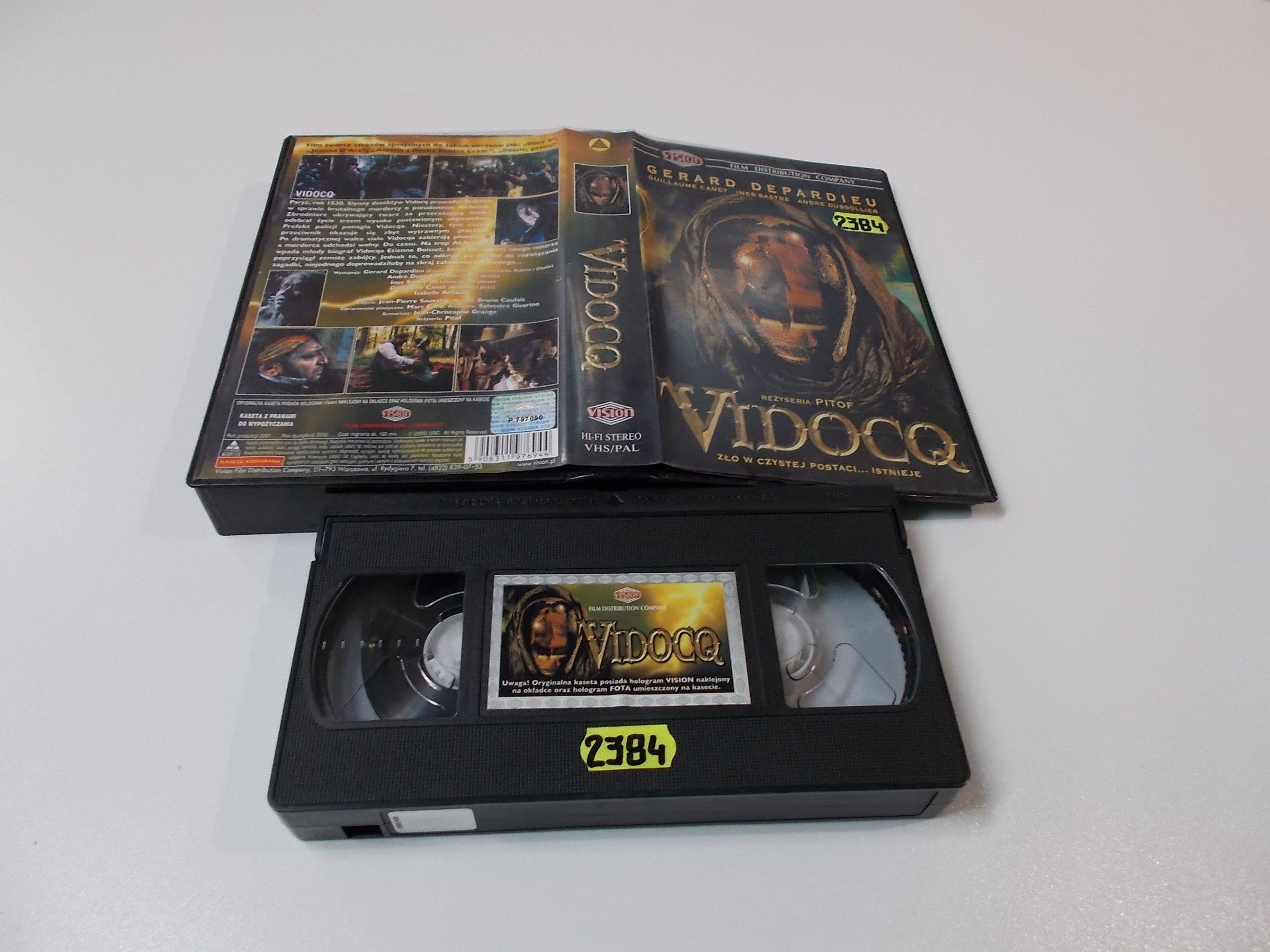 VIDOCQ - GERARD DEPARDIEU - VHS Kaseta Video - Opole 1606