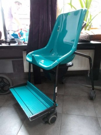 Wózek - krzesło toaletowe dla dziecka