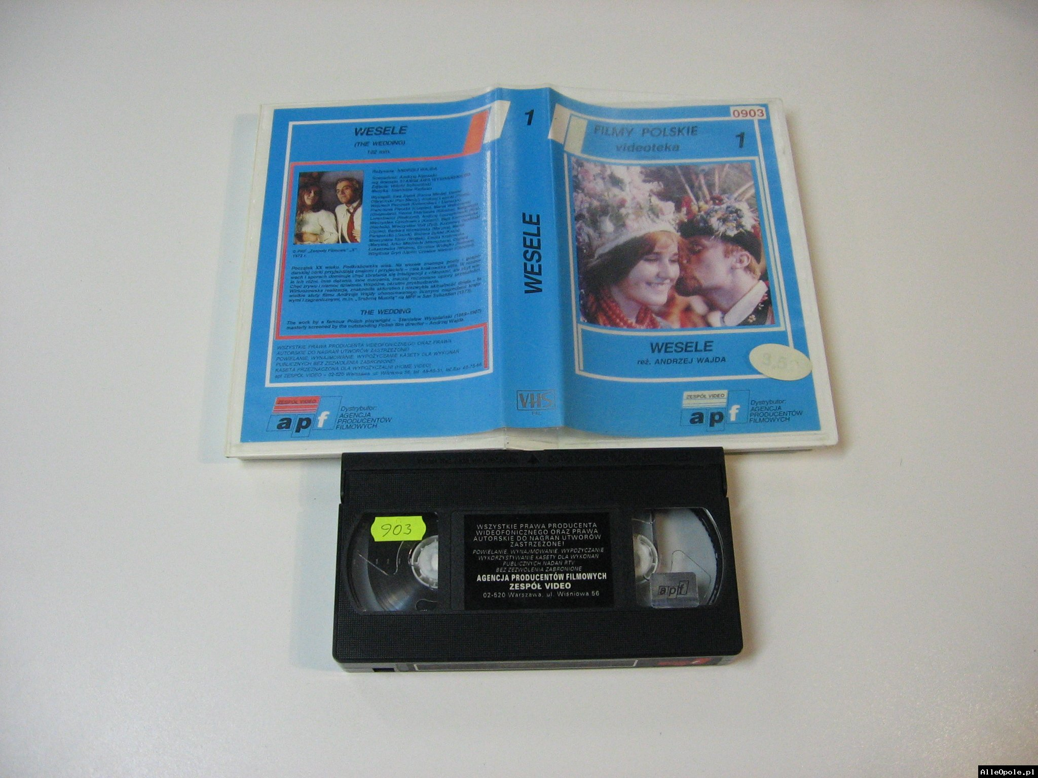 WESELE 1 - ANDRZEJ WAJDA - VHS Kaseta Video - Opole 1782
