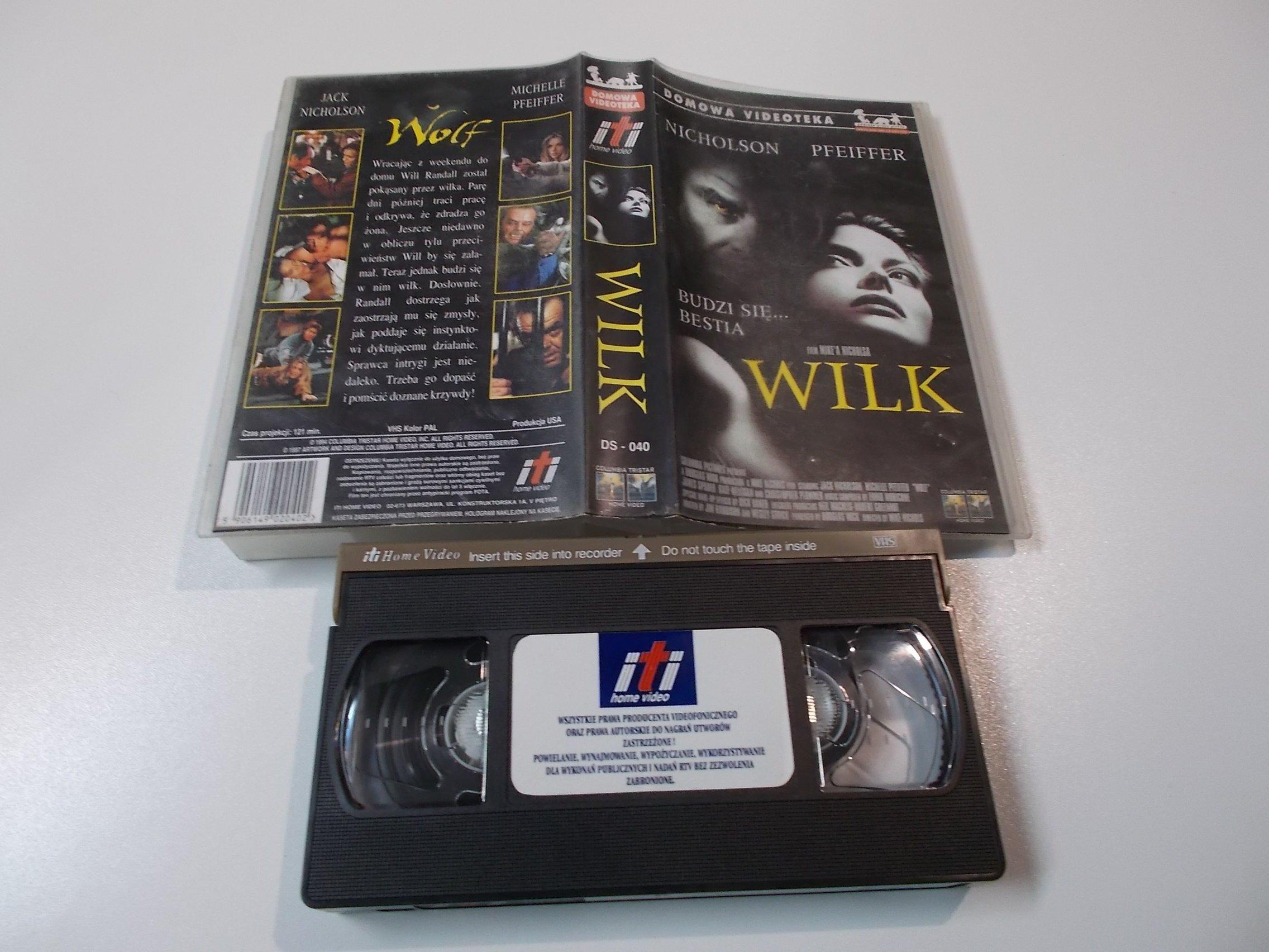 WILK - JACK NICHOLSON - Kaseta Video VHS - 1473 Opole - AlleOpole.pl