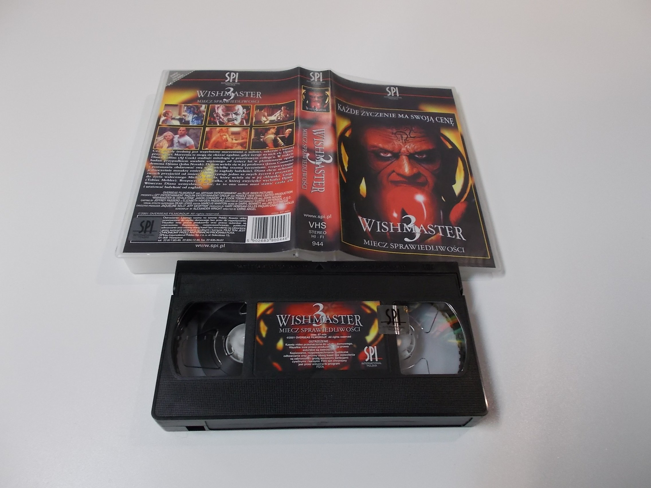 WISHMASTER 3 - VHS Kaseta Video - Opole 1632