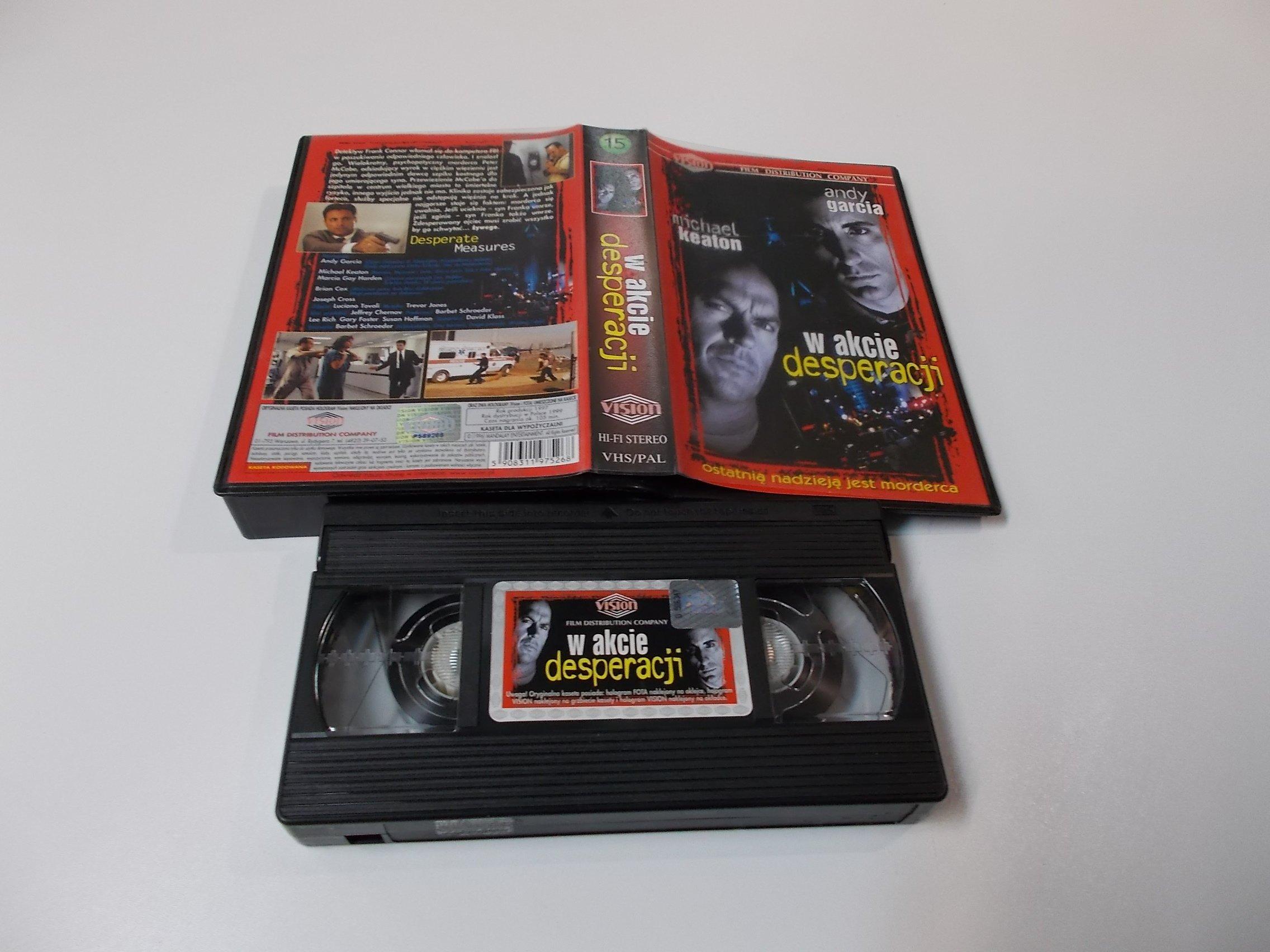 W AKCIE DESPERACJI - VHS Kaseta Video - Opole 1620