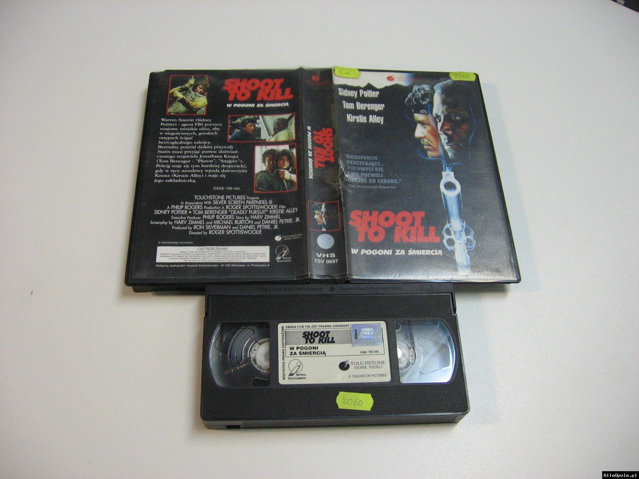 W POGONI ZA ŚMIERCIĄ - VHS Kaseta Video - Opole 1814