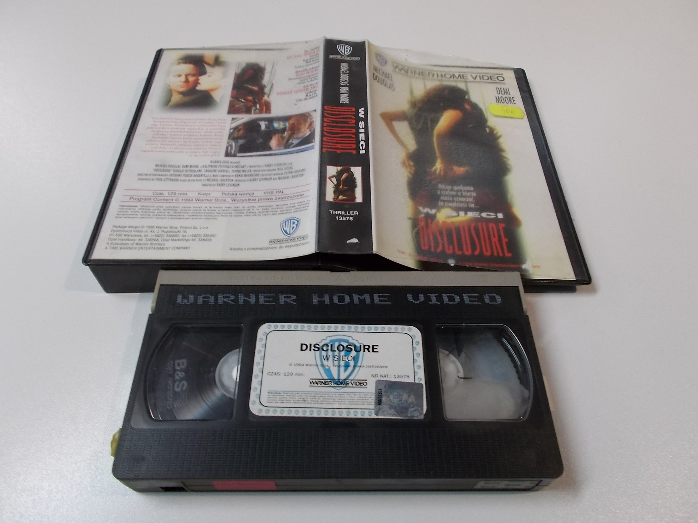 W SIECI -MICHAEL DOUGLAS - Kaseta Video VHS - Opole 1492