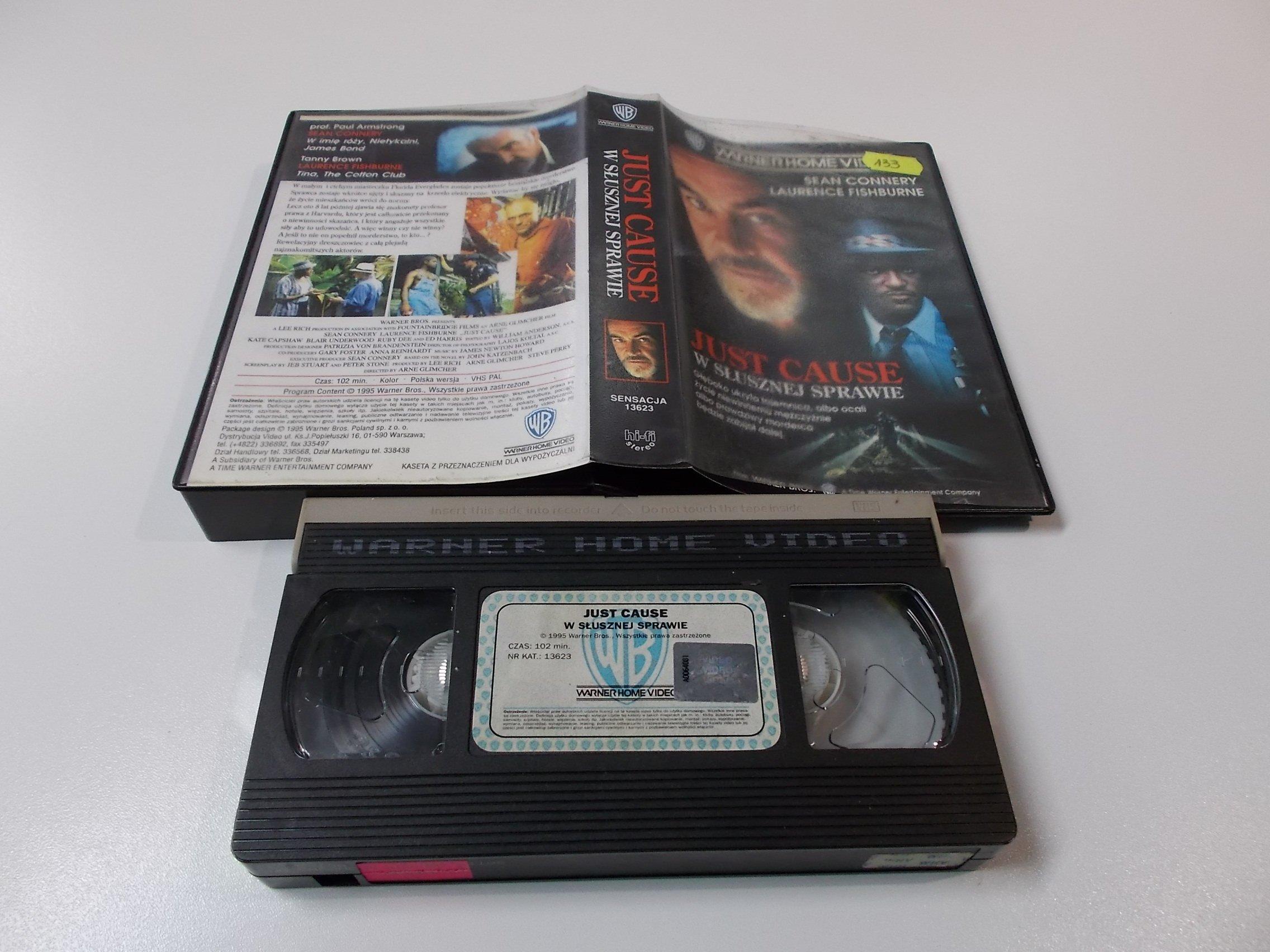 W SŁUSZNEJ SPRAWIE - Kaseta Video VHS - Opole 1503