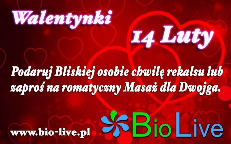 Walentynki w Bio Live!!!! Zapraszamy na masaż!!!