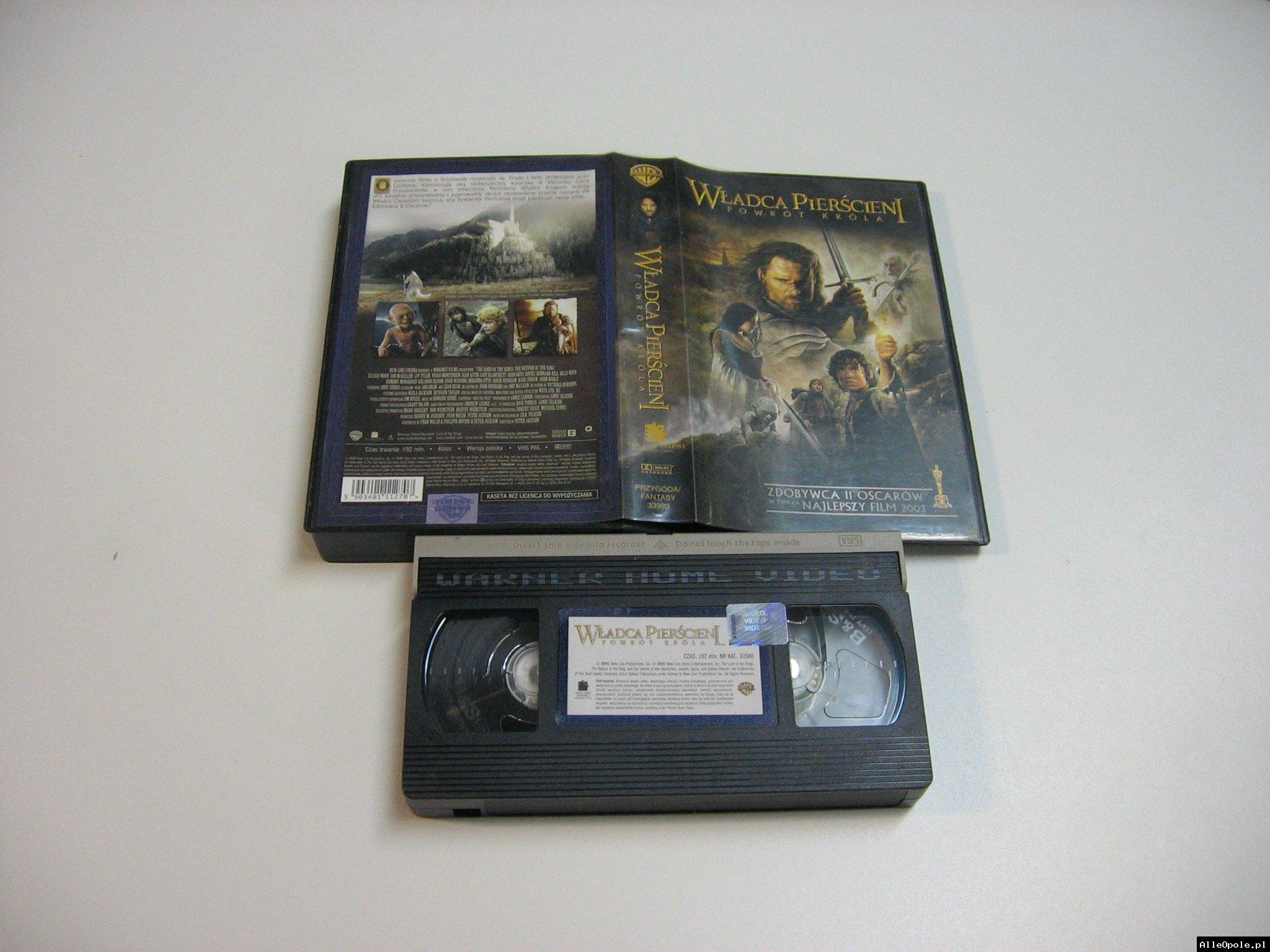 WŁADCA PIERŚCIENI POWRÓT KRÓLA - VHS Kaseta Video - Opole 1796