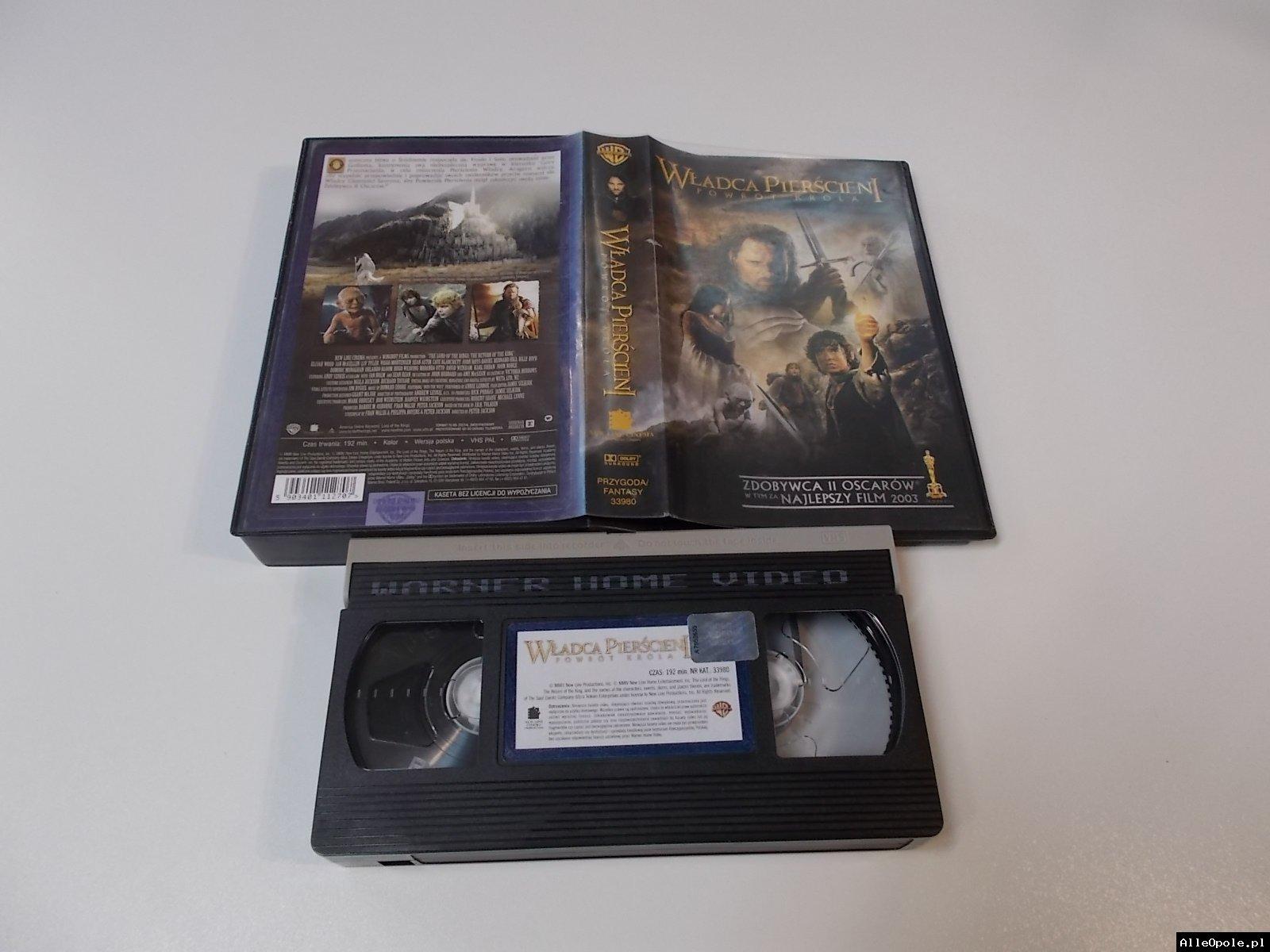 WŁADCA PIERŚCIENI POWRUT KRÓLA - VHS Kaseta Video - Opole 1721