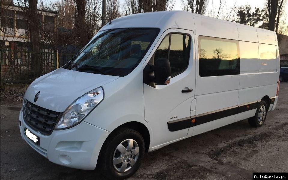 Wynajem - bus dostawczy Master L3H2 brygadówka 7 osób, HAK holowniczy - już od 150 ZŁ - wypożyczalnia aut dostawczych