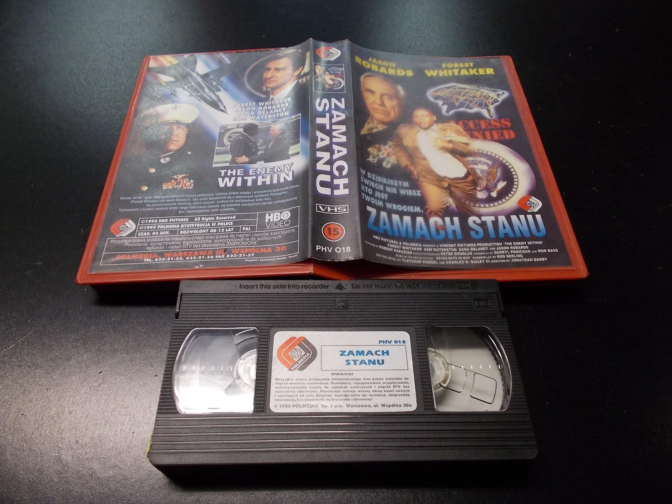 ZAMACH STANU -  kaseta VHS - 1223 Opole - AlleOpole.pl