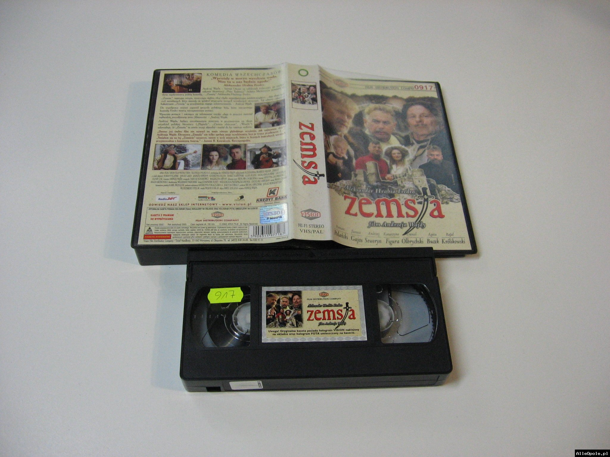 ZEMSTA - ANDRZEJ WAJDA - VHS Kaseta Video - Opole 1770