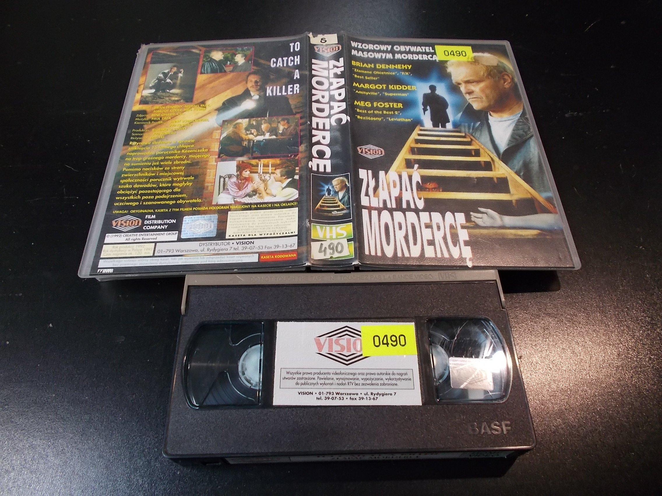 ZŁAPAĆ MORDERCĘ - kaseta Video VHS - 1378 Sklep