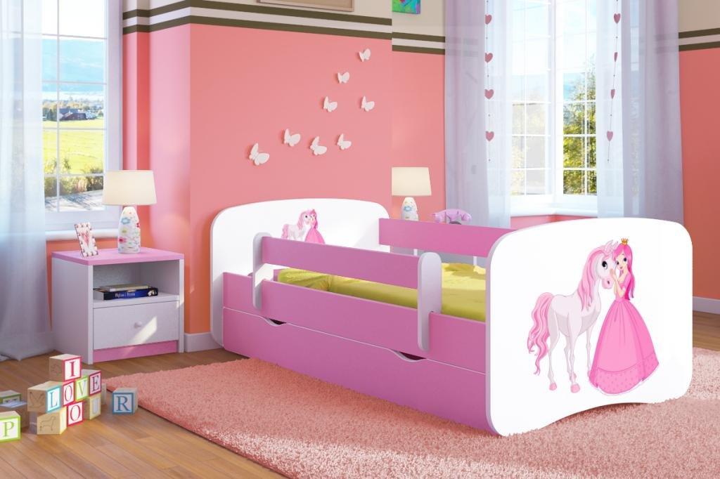 łóżko dziecięce z szufladą i materacem 160x80