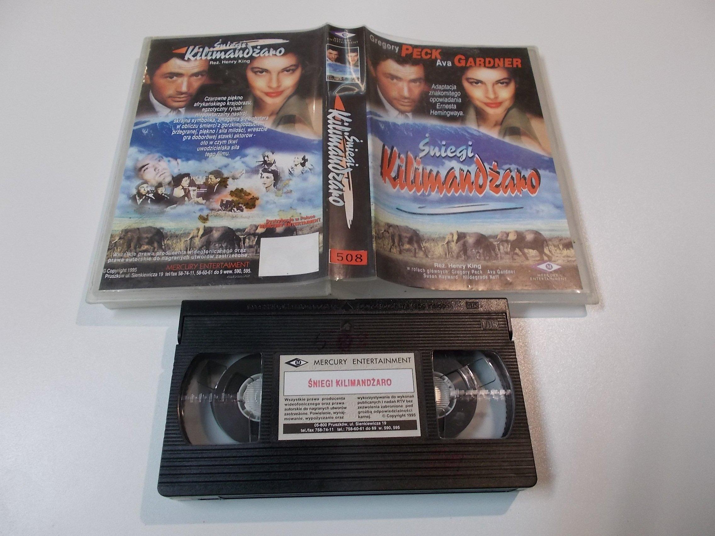ŚNIEGI KILIMANDŹARO - kaseta Video VHS - 1448 Sklep