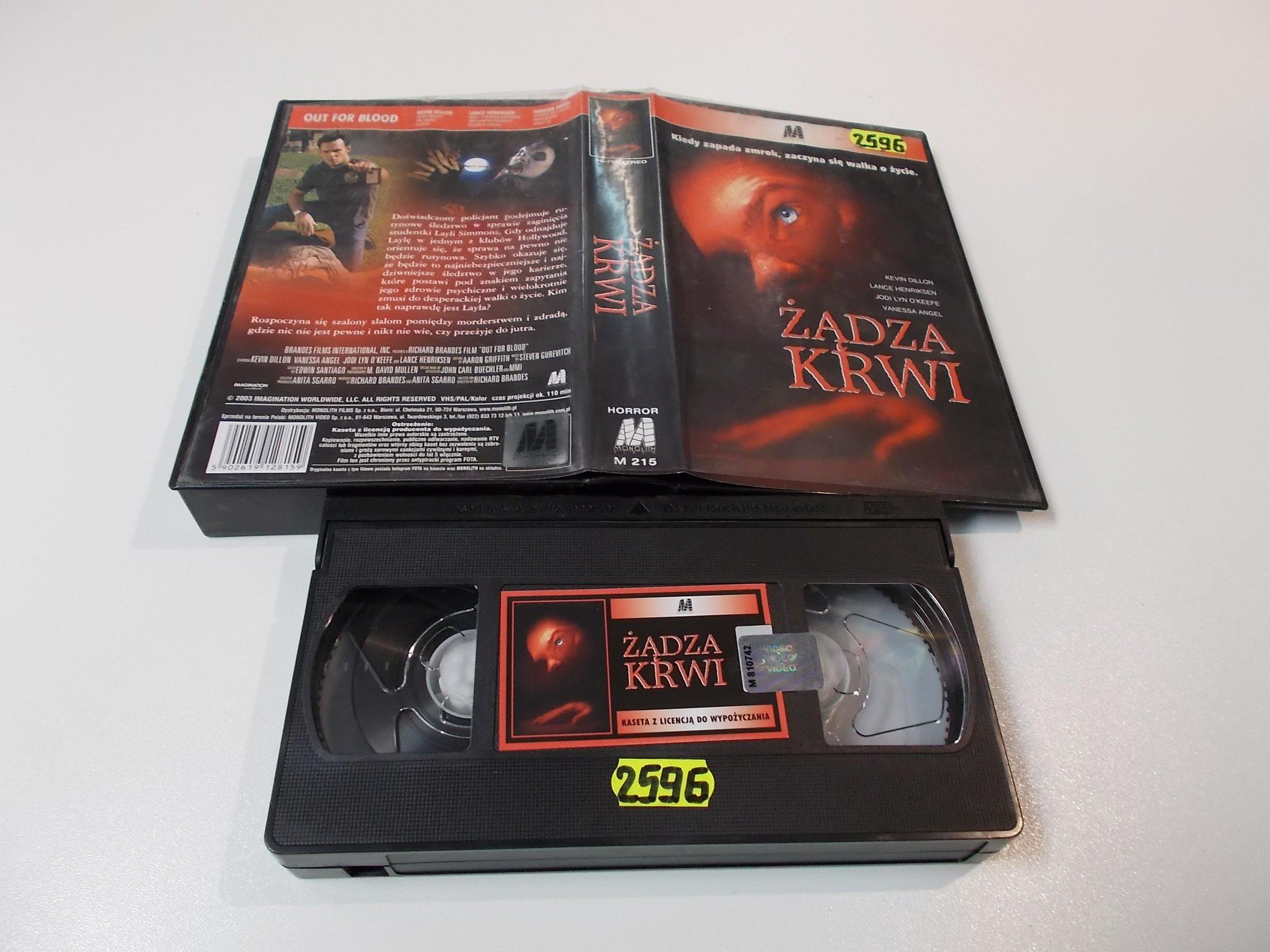 ŻĄDZA KRWI - VHS Kaseta Video - Opole 1591