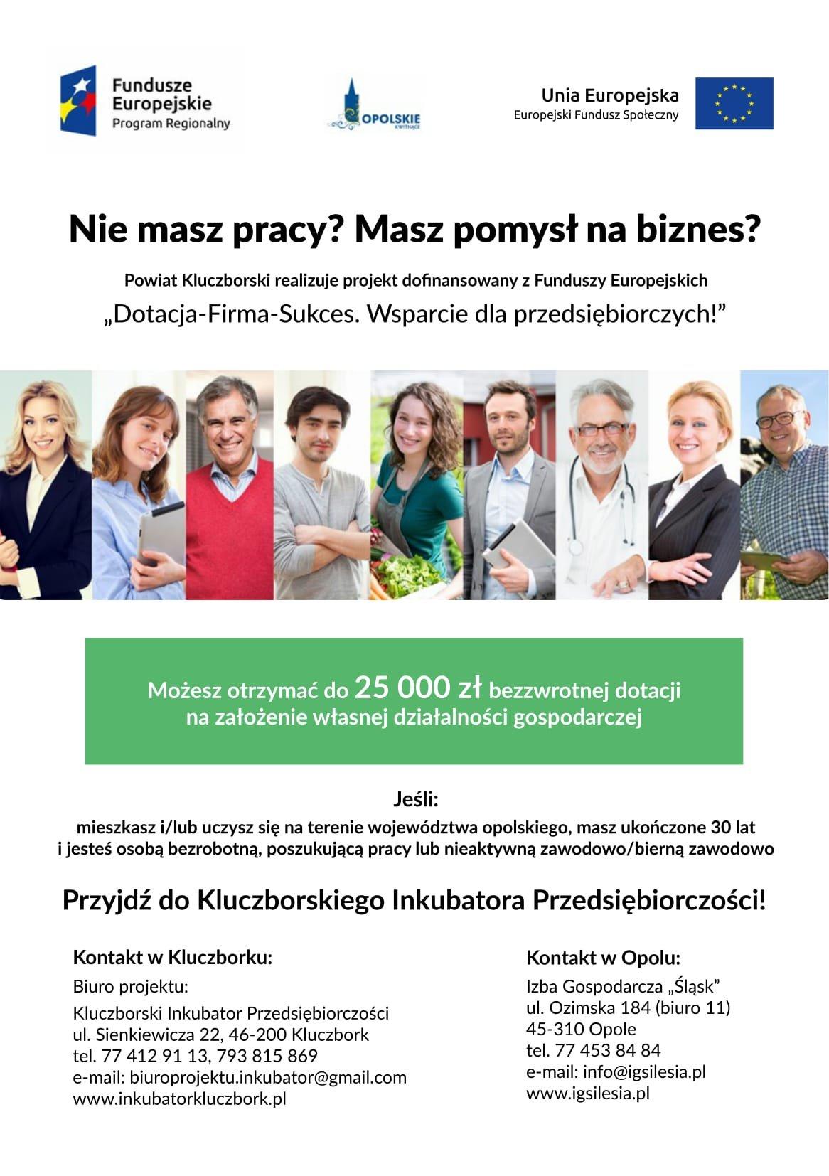 do 25 000 zł bezzwrotnej dotacji na założenie własnej firmy!