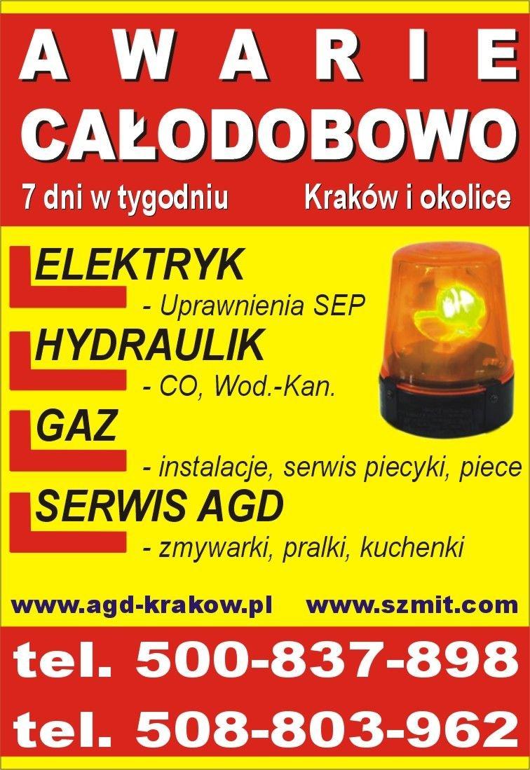 pogotowie elektryczne Kraków tel. 508-803-962