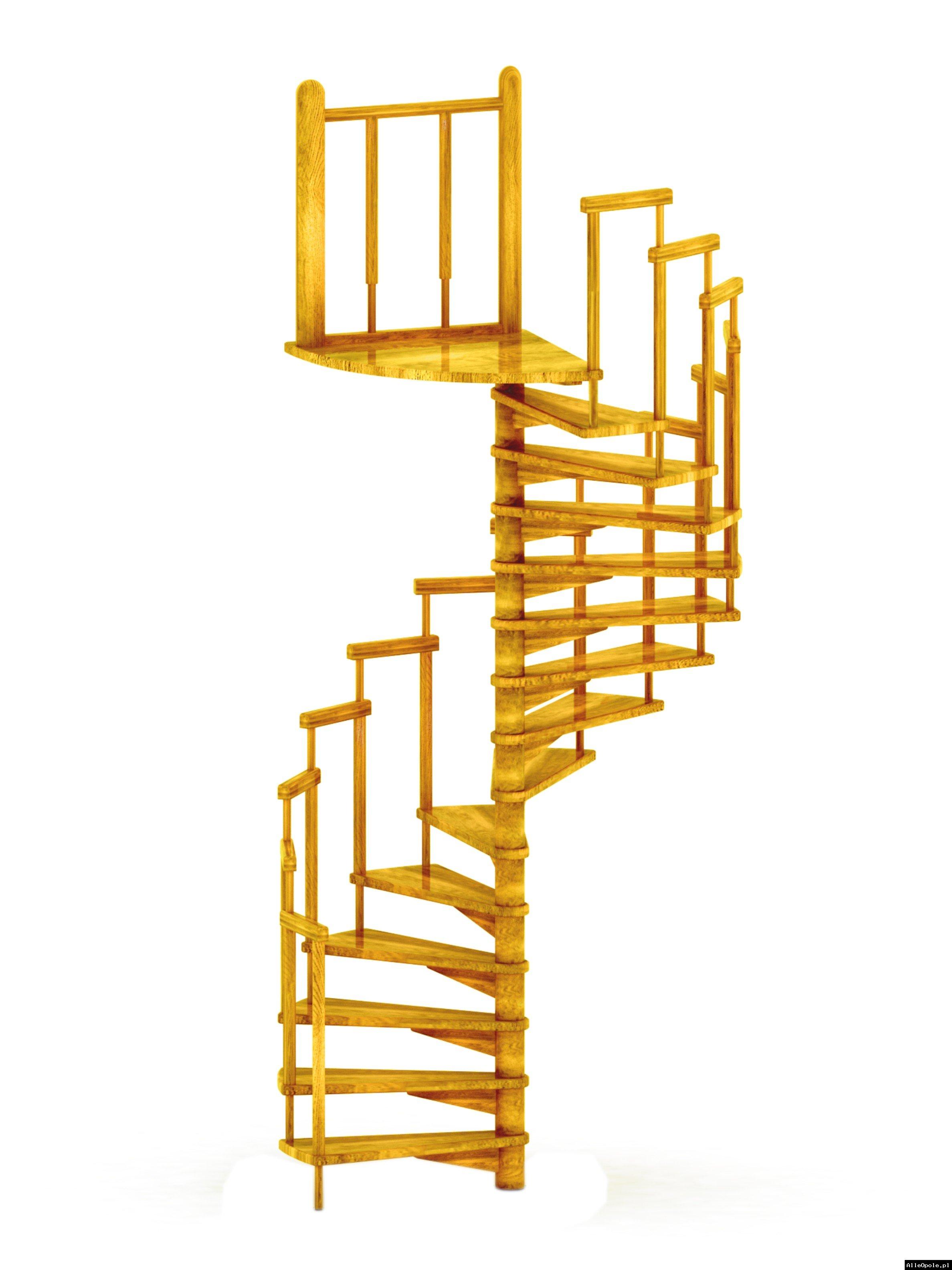 schody kręcone spiralne  z poręczą elementową