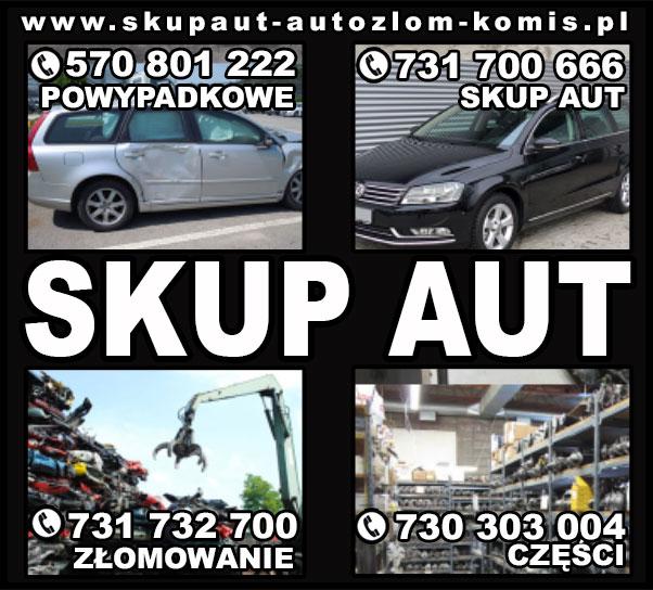 skup aut Oświęcim / szrot Chełmek / skup samochody powypadkowe  Stary Sącz / złomowanie auta Wolbrom
