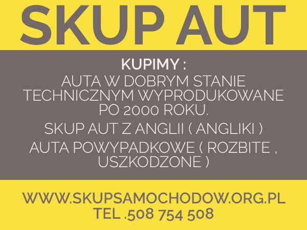 skup aut uszkodzonych Dąbrowa Górnicza  auto skup Mysłowice Cały Śląsk /Małopolska /Opolskie