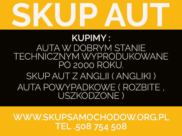 skup samochodów Katowice Bytom skup samochodów za gotówkę Jaworzno Świętochłowice Cały Śląsk /Małopolska /Opolskie